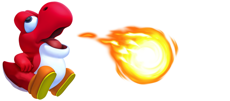 Back  gt  Gallery For  gt  Red Yoshi FireFire Yoshi