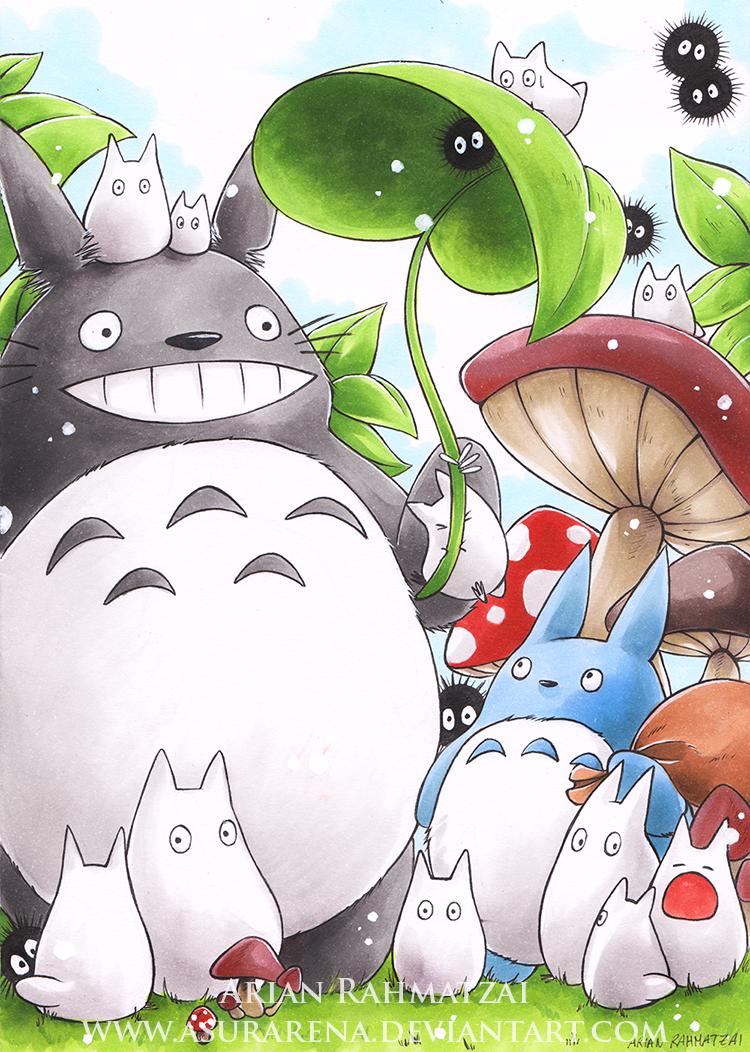 Family Totoro by AsuraRena