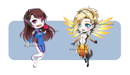 CHIBI D.Va and Mercy