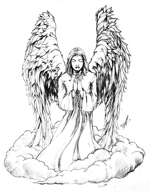 Angel Tattoo Designs For Women Free Angel Tattoo Design by