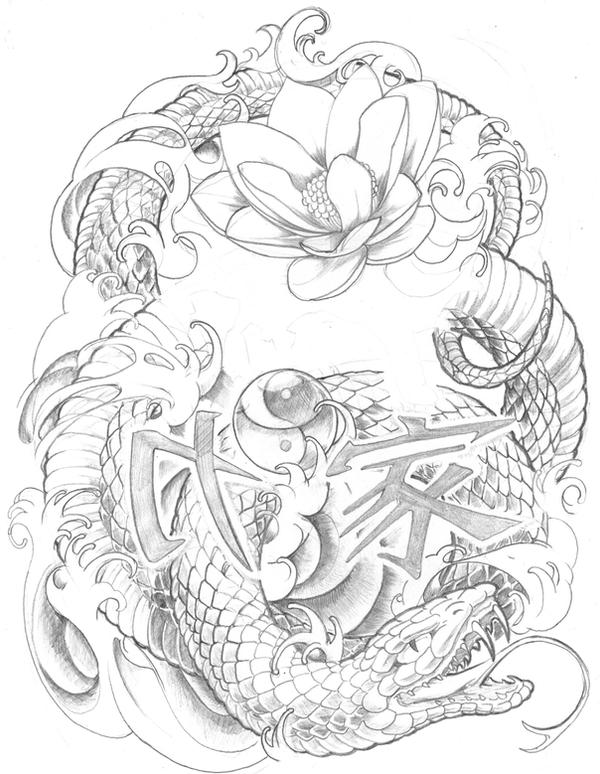 Line Drawing Tattoo Sleeve : Tattoo that similar what i want on pinterest snake
