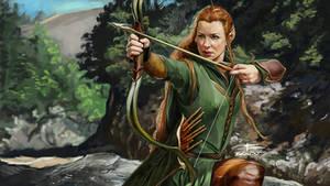 Tauriel from The Hobbit by BeniaminoBradi