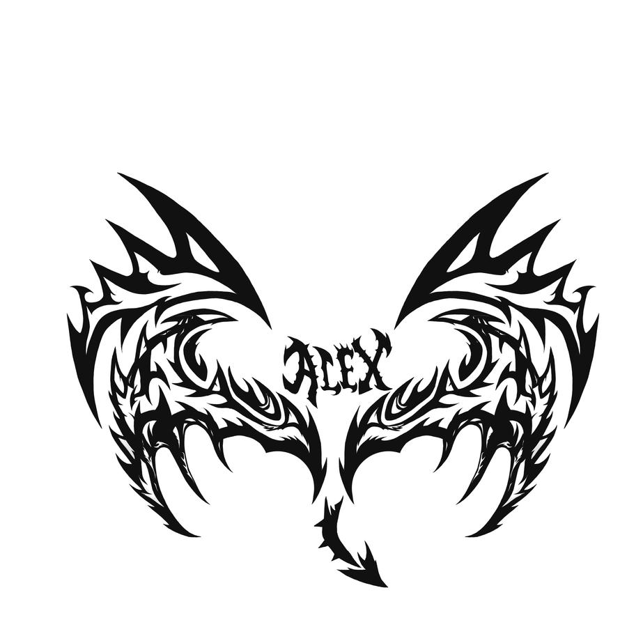 angel and demon wings drawings. Black Bedroom Furniture Sets. Home Design Ideas