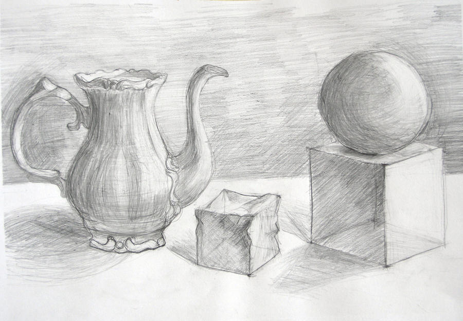 Scribble Drawing Still Life : How to draw easy still life