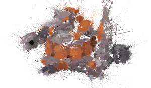 Paint Drip Rhyperior by ImpersonatingPanda