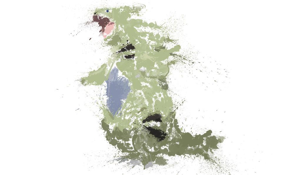 Paint Drip Tyranitar by ImpersonatingPanda