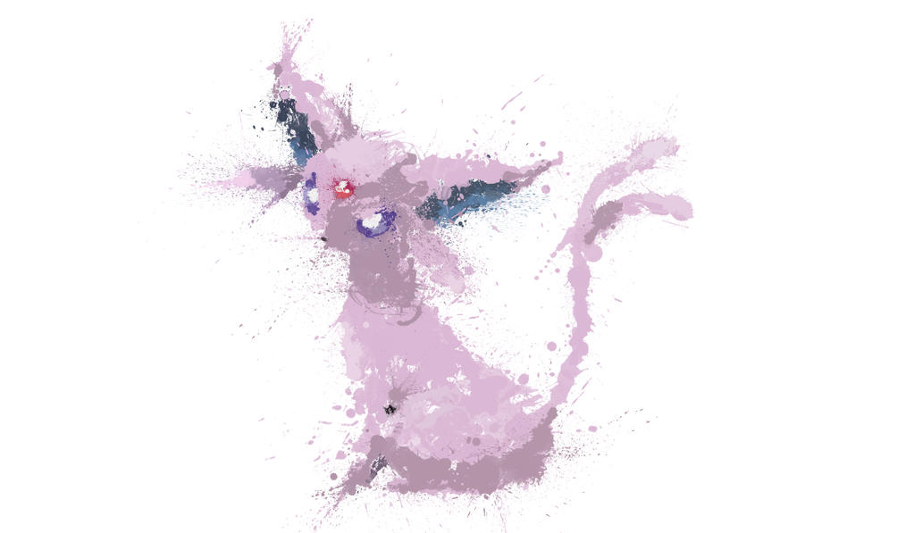Paint Drip Espeon by ImpersonatingPanda