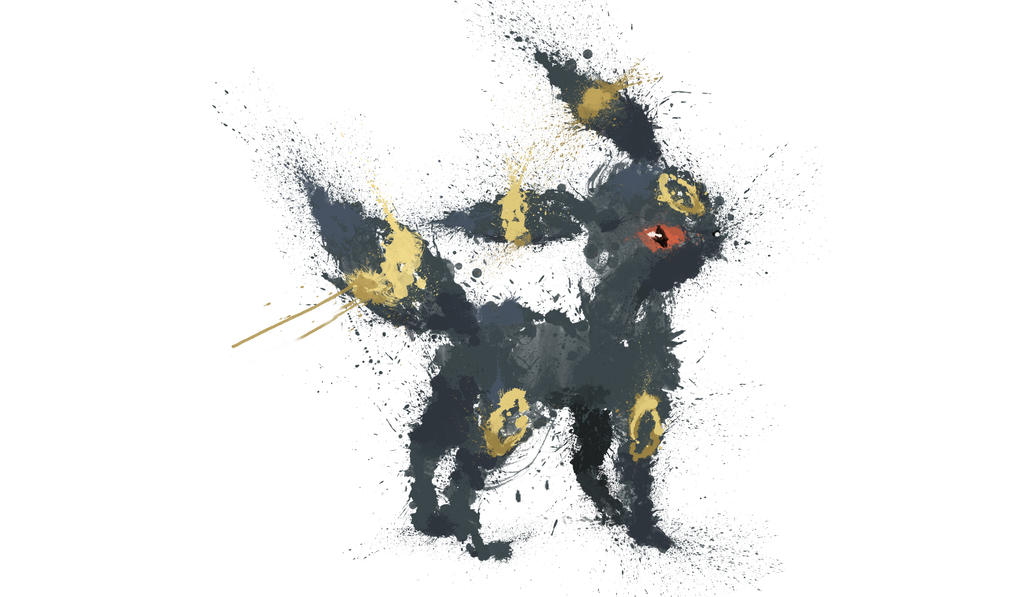 Paint Drip Umbreon by ImpersonatingPanda