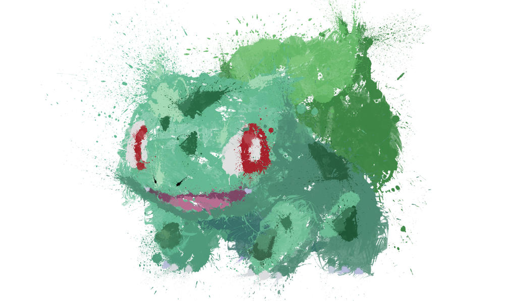 Paint Drip Bulbasaur by ImpersonatingPanda
