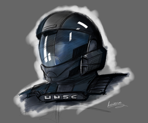 ODST: Rookie Sketch by AJSabino