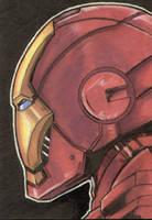 Iron Man Sketch Card by AJSabino