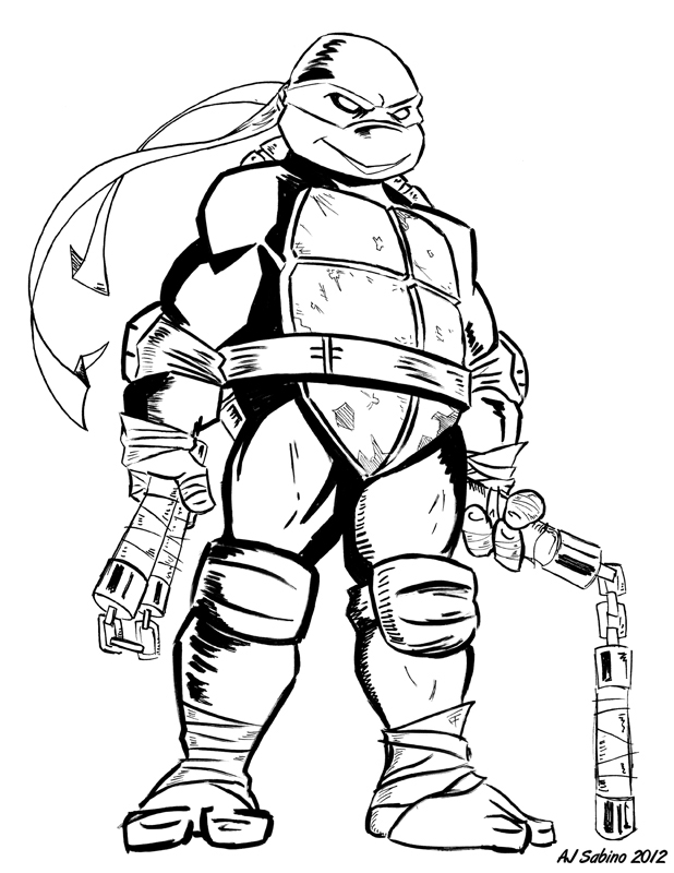 tmnt 2003 michelangelo coloring pages - photo#25