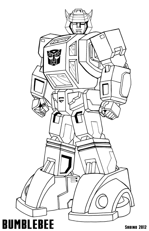 G1 bumblebee by ajsabino on deviantart for Bumblebee transformers coloring pages