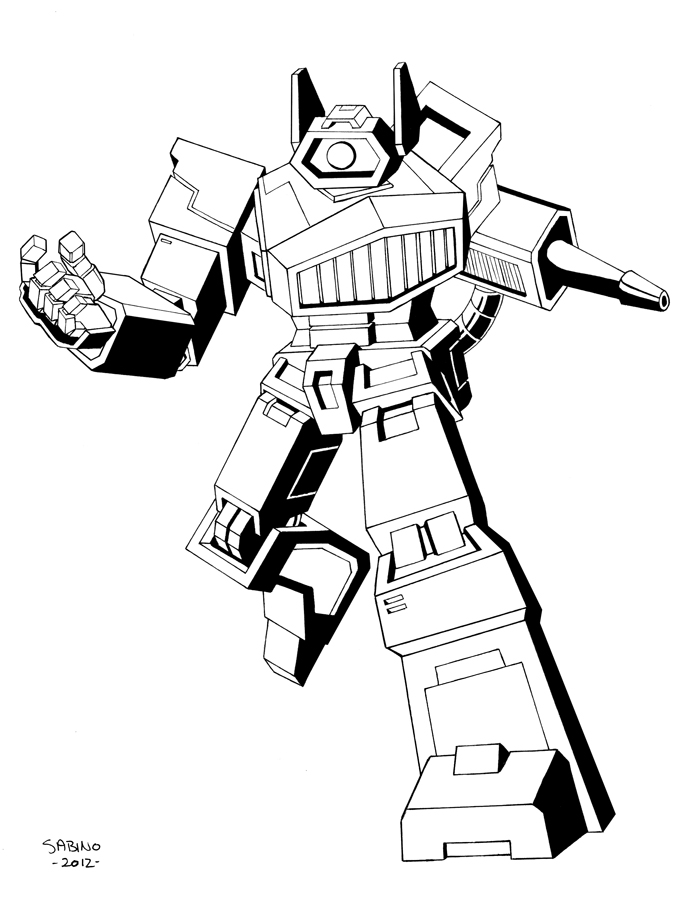 Transformer Shockwave Free Colouring