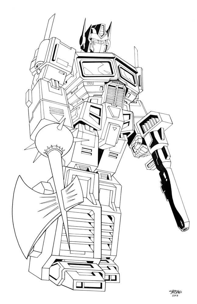 Optimus prime face coloring pages for Transformers g1 coloring pages