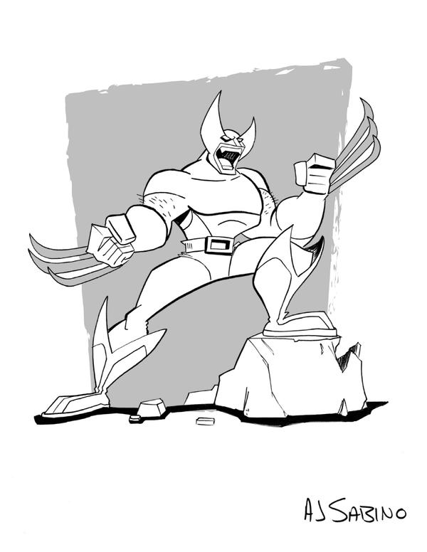 Inktober Day 10 - Wolverine by AJSabino