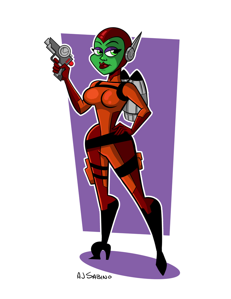 Space Girl by AJSabino