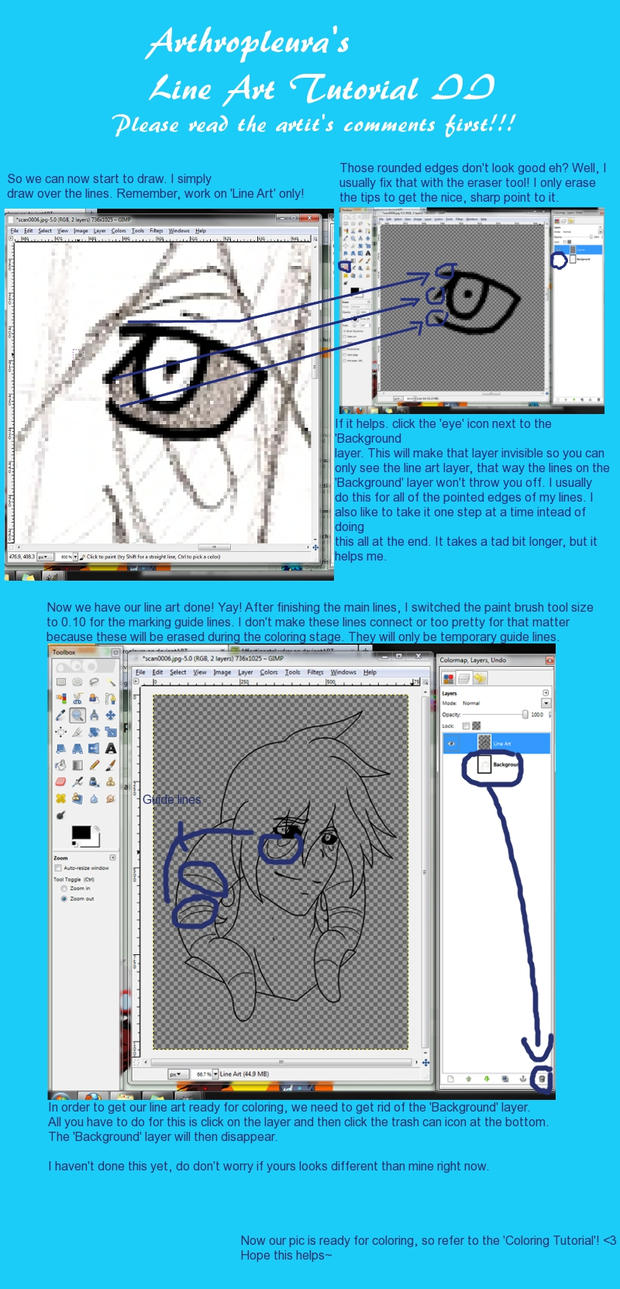 Line Art In Gimp : Gimp line art tutorial ii by arthropleura on deviantart