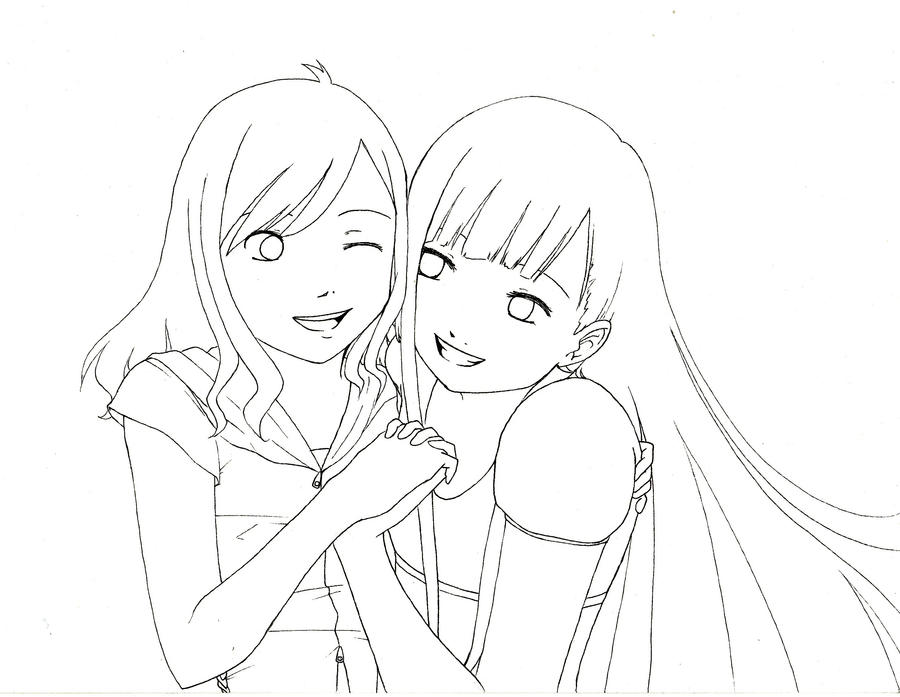 Best Friends - Lineart by XxLei-chanxX on DeviantArt