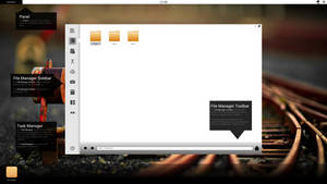 Conceptual DE and File Manager by DevianTN7k1