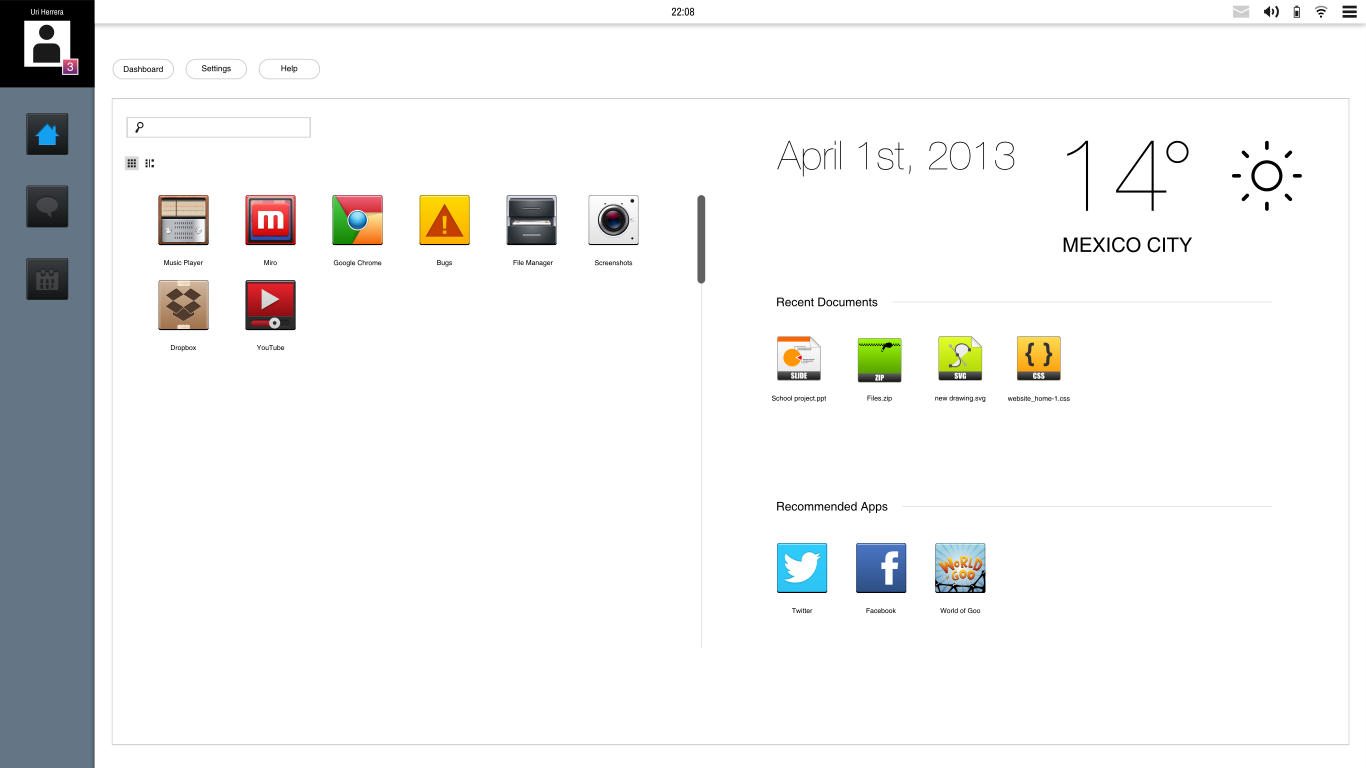 Dashboard UI by DevianTN7k1
