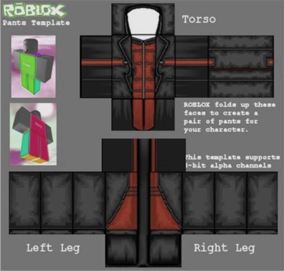 roblox pants template