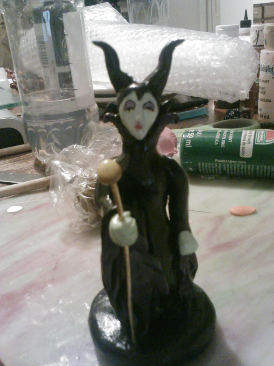 Maleficent figurine by ShadyDarkGirl