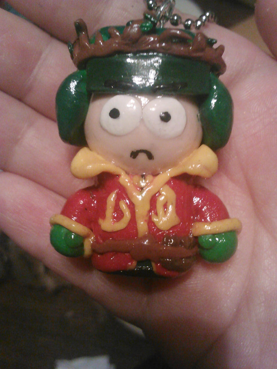 Elf King Kyle Polymer clay keychain by ShadyDarkGirl