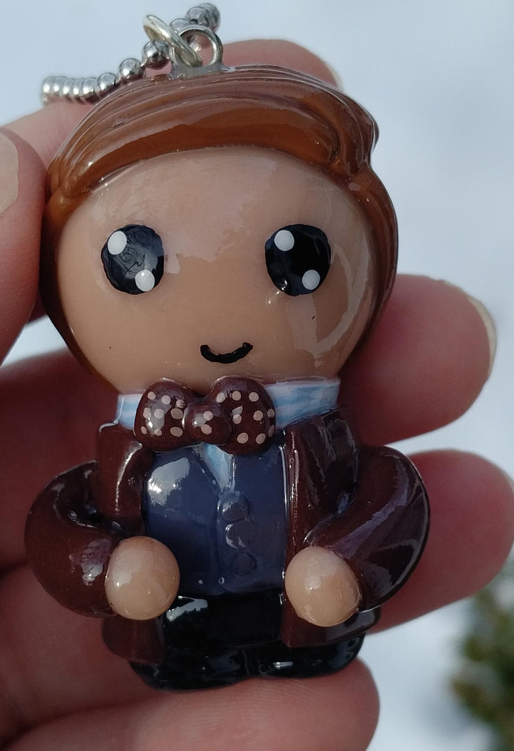 11th Doctor(Dr. Who) polymer clay charm/ornament by ShadyDarkGirl