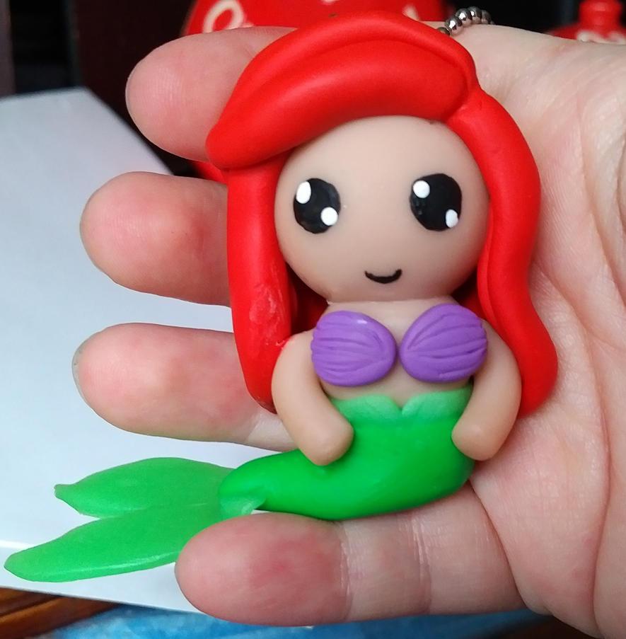 Ariel Polymer Clay Charm/Ornament by ShadyDarkGirl