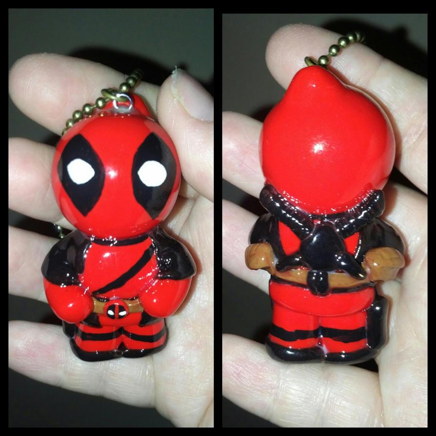 Deadpool Polymer Clay Chibi Ornament/Keychain by ShadyDarkGirl