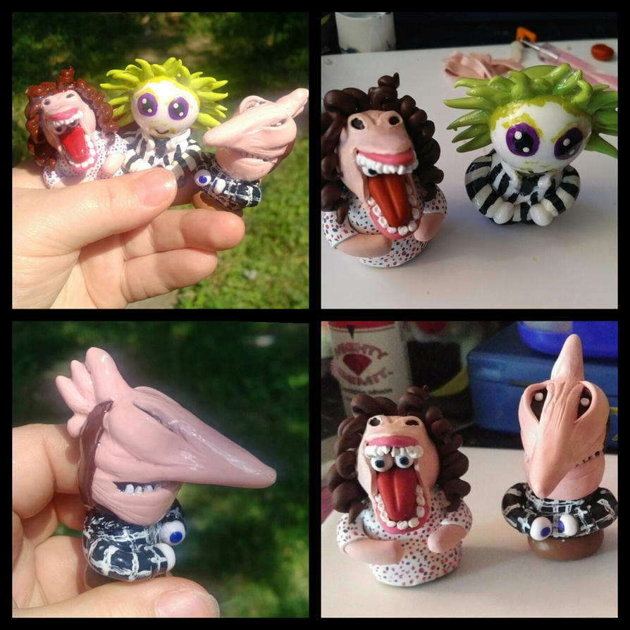 Beetlejuice Chibi Cake Toppers Commissions by ShadyDarkGirl