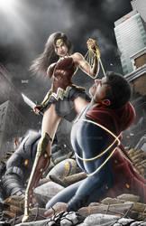 Batman vs Superman by spunkbrat