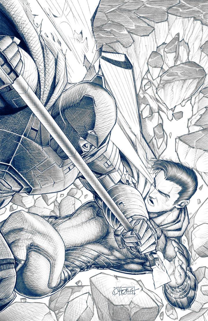 Superman vs Batman by spunkbrat