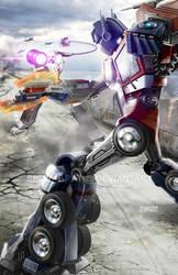Optimus Prime vs Megatron - Battle At Sherman Dam