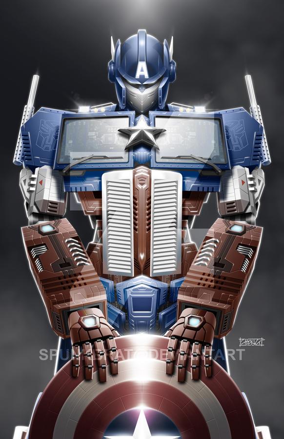 TransAvengers: Optimus Prime Captain America