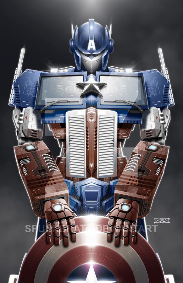 TransAvengers: Optimus Prime|Captain America