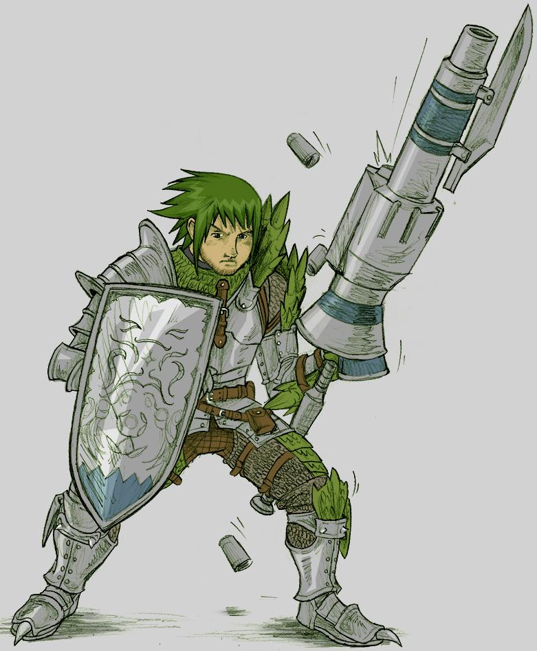GunLance Warrior by AIBryce