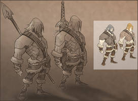 Viking Sketches by AIBryce