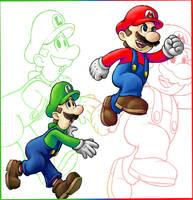 Mario Bros by AIBryce