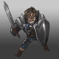 DandD Warrior by AIBryce