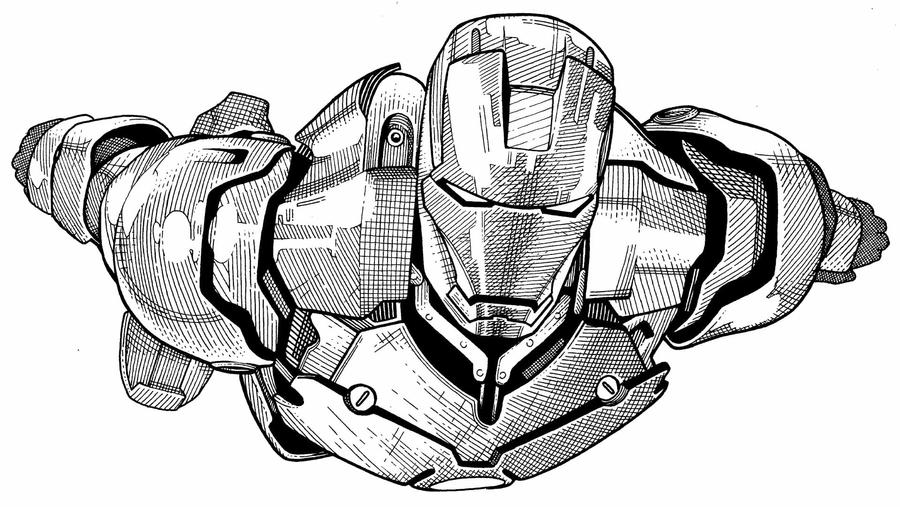 IRON MAN sketch 02 by timothygreenII on DeviantArt
