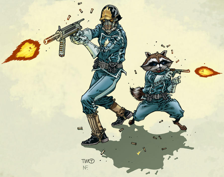 Star Lord And Rocket Raccoon By Timothygreenii On Deviantart: Rocket And Starlord By TimothygreenII On DeviantArt