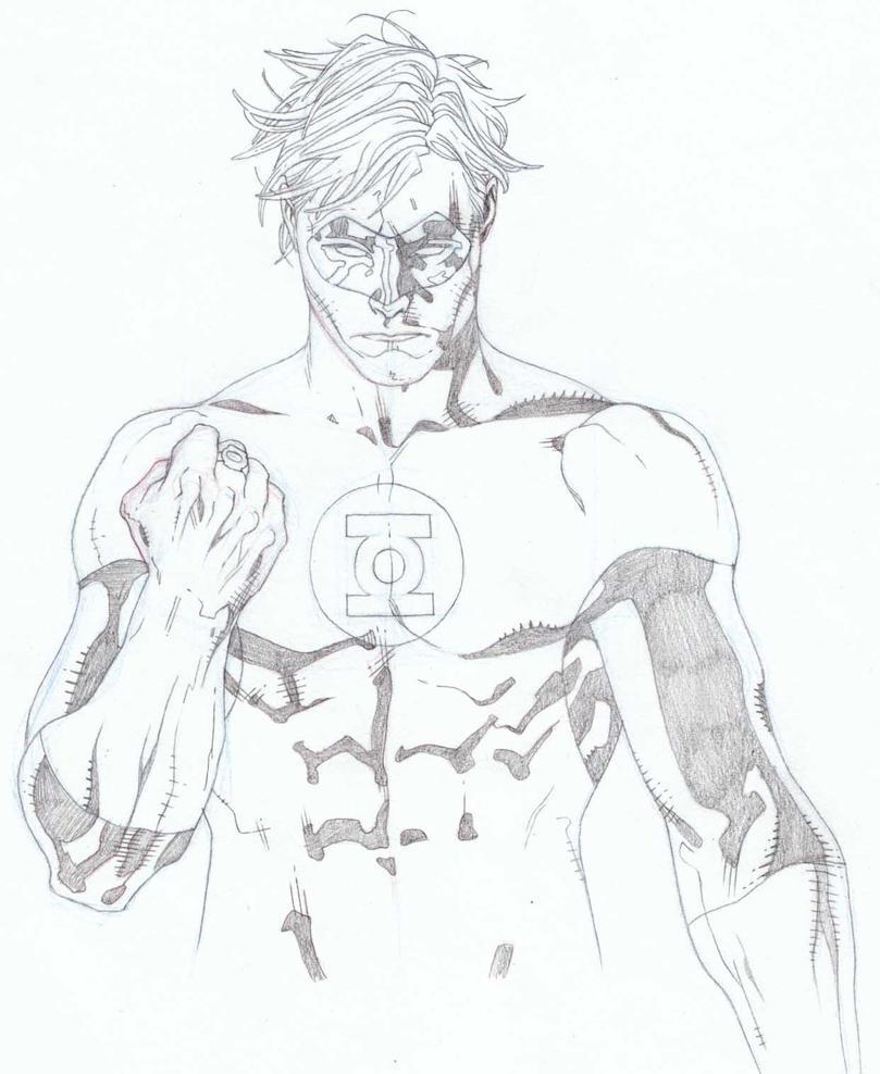 Line Art Vs Sketch : Green lantern sketch by timothygreenii on deviantart