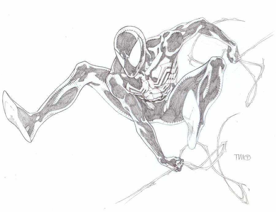 Black Spider man sketch by timothygreenII
