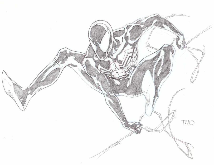 Black Spider Man Sketch By TimothygreenII On DeviantArt