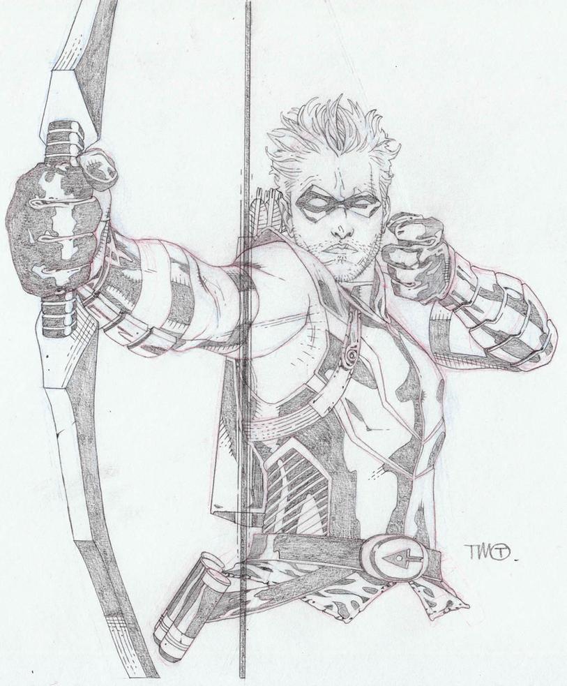 Green Arrow Sketch By TimothygreenII On DeviantArt