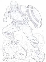 WWII Captain America commission by timothygreenII