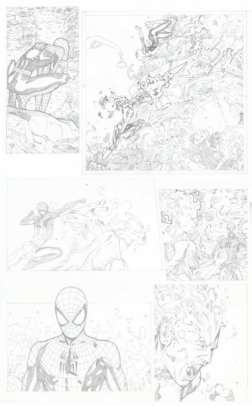Spiderman 700.3 Pencils Pg 3 by timothygreenII