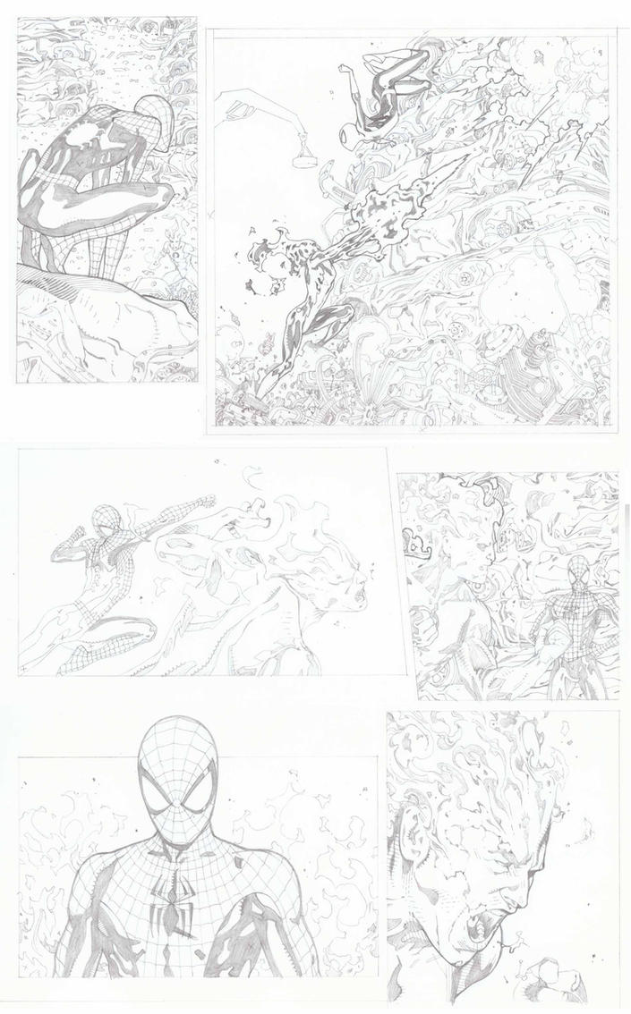 Spiderman 700.3 Pencils Pg 3 by timothygreenII